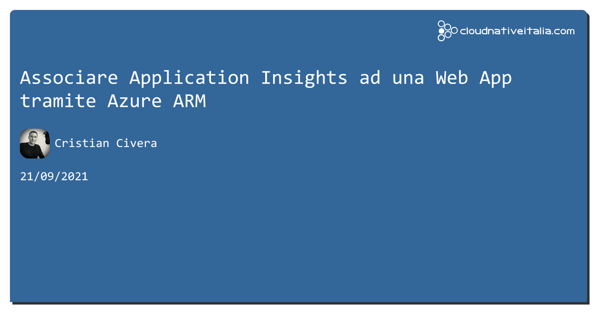 Associare Application Insights ad una Web App tramite #azure ARM https://aspit.co/b77