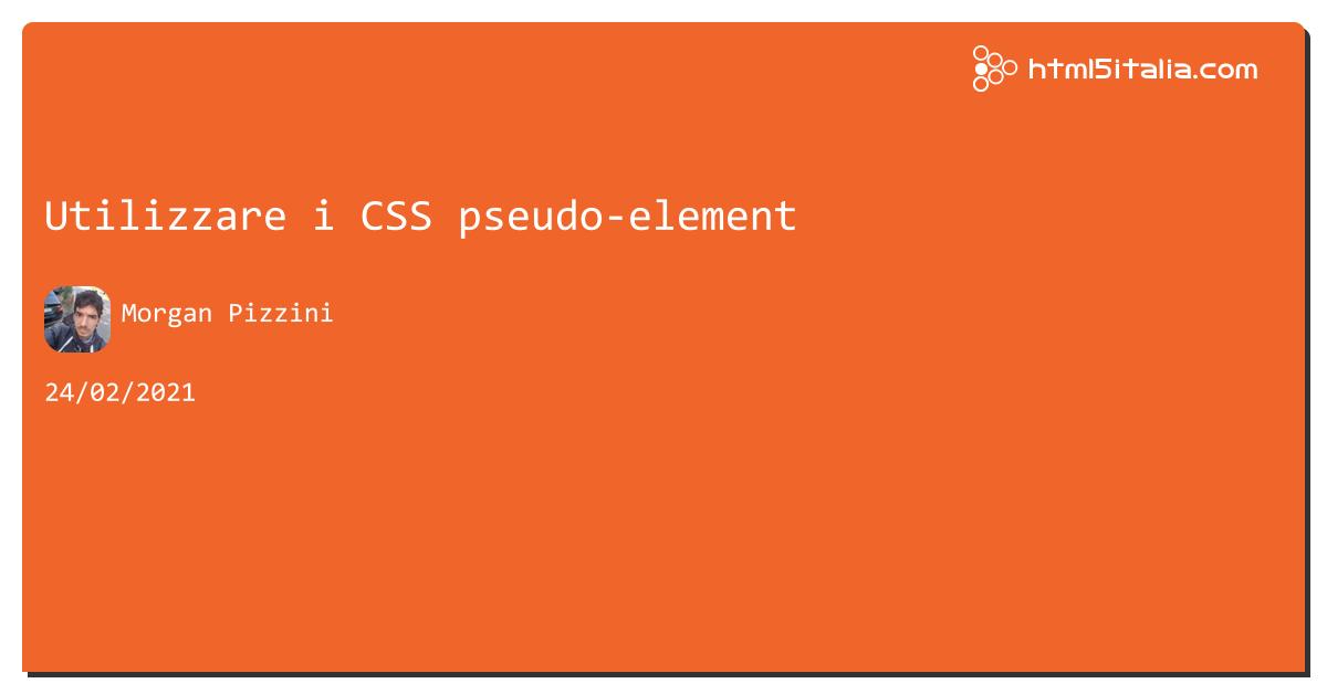 Utilizzare i #css pseudo-element https://aspit.co/b5s di @morwalpiz