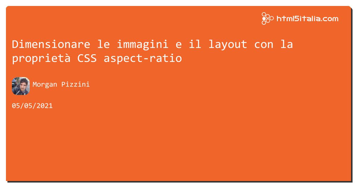 Dimensionare le immagini e il layout con la proprietà #css aspect-ratio https://aspit.co/b60 di @morwalpiz