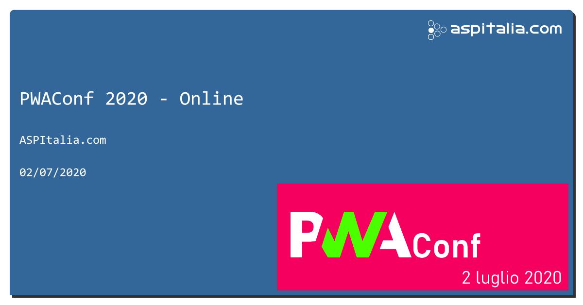 Come si sviluppa per il web moderno? Cosa sono le PWA? Posso usare React? Angular? Blazor?Modern web vuol dire solo front-end? Se ti sei mai fatto questa ed altre domande, non perderti #PWAConf, il 2 luglio! Agenda finale e iscrizioni su => https://aspit.co/PWAConf-20